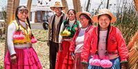 People of uros lake titicaca