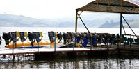 PIER IN LAKE CALIMA