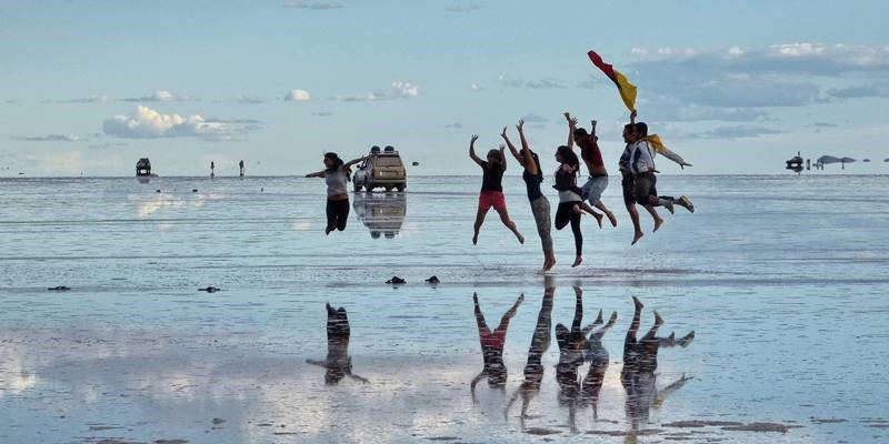 Fun pictures in Uyuni