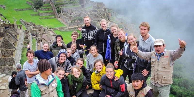 Machu Picchu - group picture