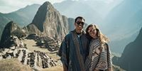 Couple in Machu Picchu